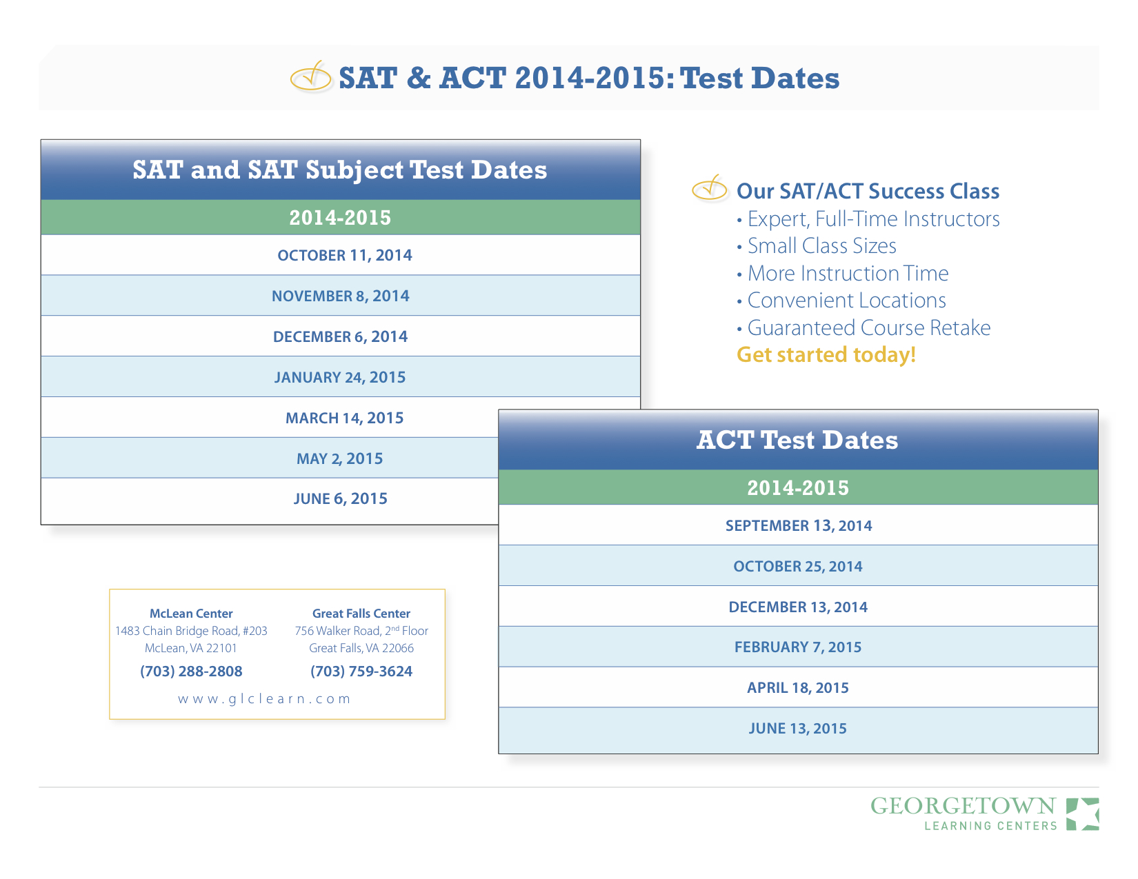 2016-17 SAT & ACT Test Dates - Academy College Coaches
